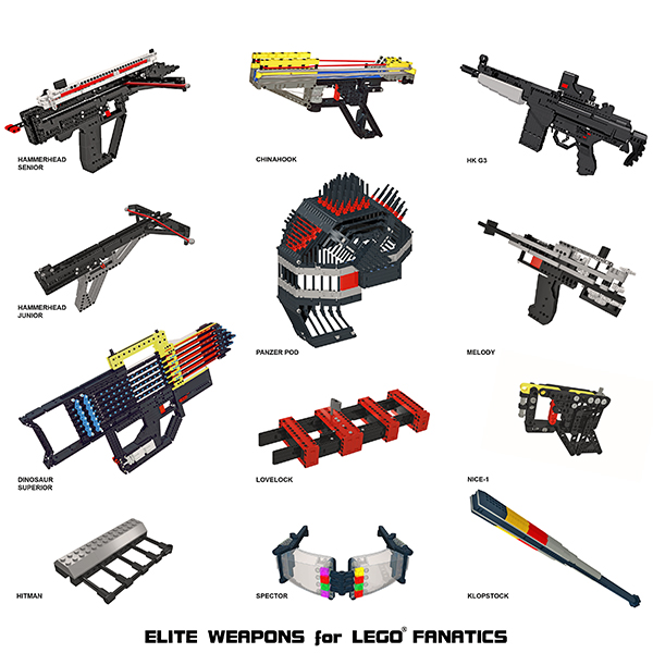 ELITE WEAPONS for LEGO FANATICS models